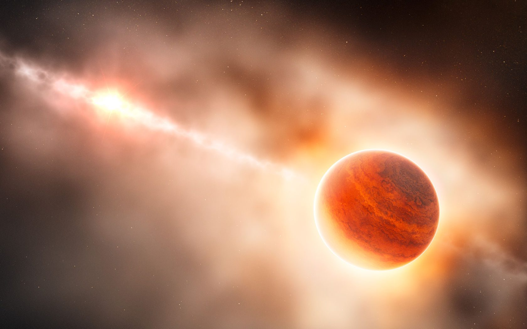 gas giant planet forming around young star Yıldız Astrofiziği: Virial Teoremi